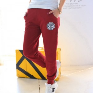 New Women Cotton Loose Pants Ankle Length Solid Color Hip Hop Trousers For Women Thumbnail