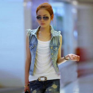 New Women Denim Jacket Slim Coat Cardigan Plus Size Casual High Waist Coat For Women Thumbnail