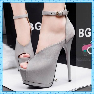 New Women High Heel Party Shoes Peep Toe Ankle Straps Wedding Sandals Women Thumbnail