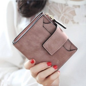 Ougold New Fashion Women Wallets Female Purse Mini Zipper Short Wallet Solid Color For Women Thumbnail