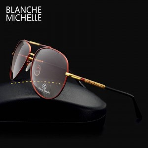 Oversized Aviator Sunglasses For Men High Quality Gradient Driving Shades Polarized UV400 Eyewear