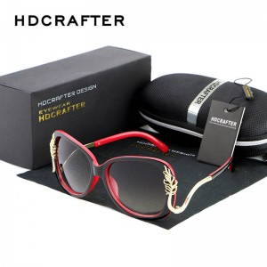 Oversized Square Sunglasses Driving Metal Frame Designer High Quality Polarized UV400 Shades For Women