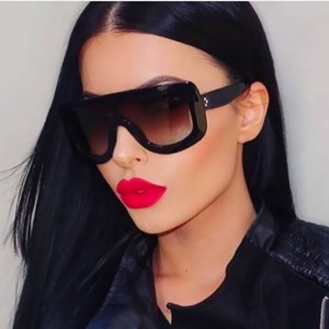 Oversized Square Sunglasses For Women Big Frame Designer Gradient Sun Shades Dress Up Female Eye Glasses
