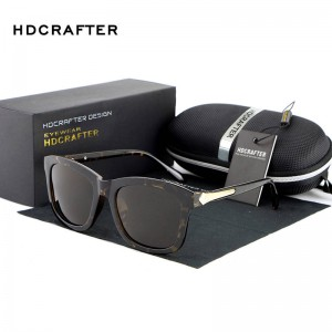Oversized Square Sunglasses Polarized UV400 HD Crafter Vintage Designer Elegant Eye Wear For Women