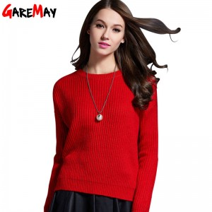 Oversized Women Pullover Sweater Loose Fit Korean Style Thick Knitted Sweater For Women
