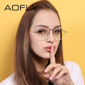 Plain Glasses Frame Women Brand Designer Alloy Glasses Frame Vintage Fashion Female Clear Lens Eyeglasses
