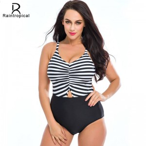 Plus Size Retro Swimwear Swimsuits For All Sizes One Piece Backless Swimwear Sexy Sunflower Monokini