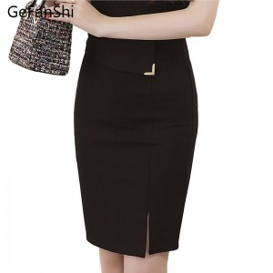 Plus Size Women Office Skirt High Waist Women Bodycon Pencil Skirt For Summer Thumbnail