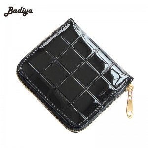 Pu Leather Ladies Change Purse New Design Fashion Women Short Coin Purse Two Fold Zipper Thumbnail