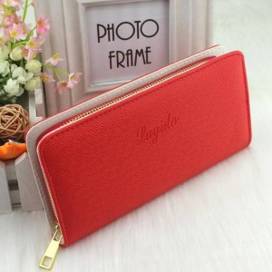 Pu Leather Long Women Wallets Zipper Clutch Embossing Change Purse Mobile Phone Bags Cardholders Thumbnail