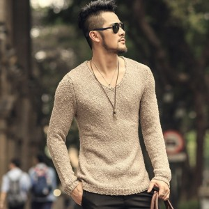 Pullover Men V neck Sweater Mens Brand Slim Fit Pullovers Casual Sweater Knitwear Pull Homme High Quality Cardigan