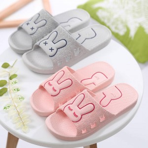 PVC Non Slip Bathroom Slippers Home Wear Indoor Non Slip Comfortable For Women Thumbnail