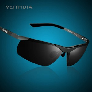 Rimless Rectangle Sunglasses Hunting Sports Mens Goggles Polarized UV400 Aluminium Veithdia Brand Sunglasses