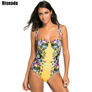 Riseado New Swimwear Women One Piece Swimsuit Floral Sexy Monokini Swimsuit Bathing Suits Swimsuit For Women Thumbnail