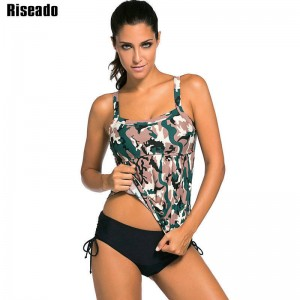 Riseado Tankini Plus Size Swimwear For Women Swimsuit Brand Sports Suits Sexy Padded Beach Bathing Suits Thumbnail