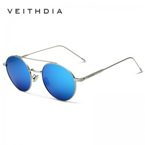 Round Retro Sunglasses Polarized UV400 Anti Scratch Veithdia Styling Trending Fashion Eye Wear For Women