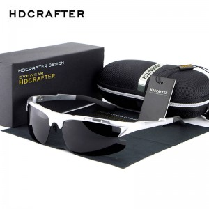 Semi Rimless HD Crafter Sunglasses For Men High Quality Polarized UV400 Male Goggles New Fashion Shades