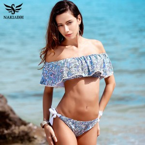 Sexy Bandeau Bikinis Push Up Swimwear Brazilian Style Bikini Set Beach Bathing Suits Padded Low Waist Suits