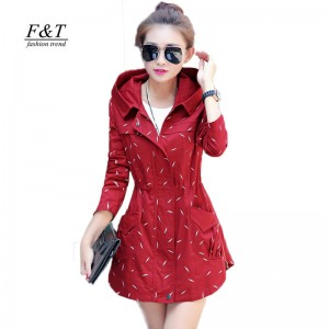 Short Design Autumn Spring Trench Coat For Women Slim Windbreaker New Design For Women Thumbnail