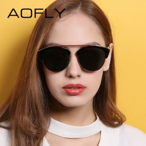 Smart Sunglasses Women Half Metal Frame Sun Glasses Female Vintage Retro Sunglasses Shades Lady Eyeglass