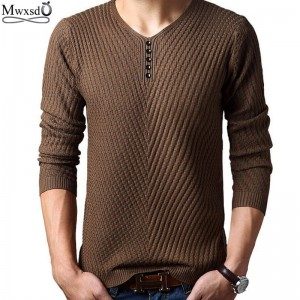 Spring Autumn Men Casual Sweater Wool Pullover Knitted Clothing For Men Thumbnail
