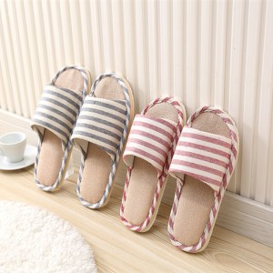 Spring Home Slippers Women Slides House Flip Flops Indoor Flats Couple Shoes Summer Anti Skid Soft Cotton Sandals