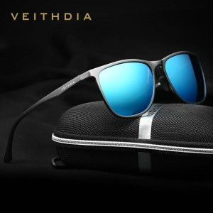 Square Vintage Sunglasses For Women From Viethdia Polarized Photochromic UV400 Aluminium Frame Shades