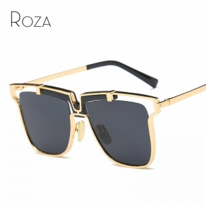 Steampunk Goggles Oversized Retro Sunglasses UV400 Polarized HD Glasses With Copper Frame Square Design