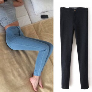 Stretch High Waist Jeans Skinny Elastic Slim Trousers New Design For Women Thumbnail