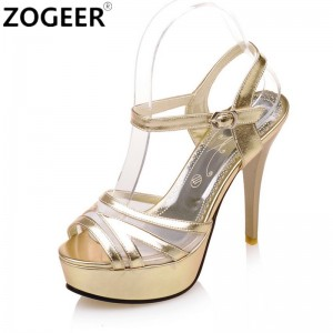 Summer Gladiator Sandals Fashion Women Sandals Platform High Heels Luxury Gold Silver Pink Wedding Party Shoes Woman