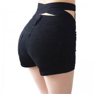 Summer New Sexy Skinny Shorts For Women Hollow Out High Waist Mini Shorts For Women Thumbnail