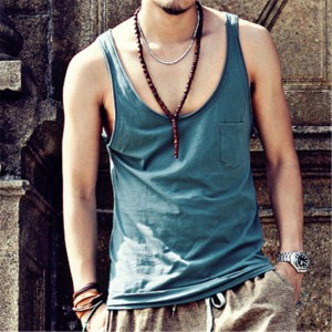 Summer Style Fashion Tanks Under Shirts Loose Soft Cotton Stretchable Hip Hop Vests Beach Tops For Males