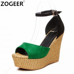 Summer Wedges Women Sandals Casual Open Toe High Heels Shoes Woman Fashion Sexy Platform Ankle Strap Lady Sandal