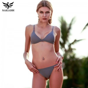 Super Sexy Two Piece Swimsuits For Women Halter Brazilian Push Up Bathing Suits Padded Top Quality Beachwear