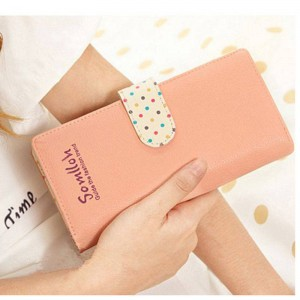 Sweet Women Long Wallets New Letter Dot Printed Cute Girls Wallet Coin Purse Card Holder Women Thumbnail
