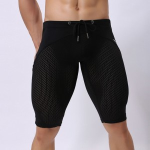 Swim Trunks Men Hawaiian Trunks Quick Dry Beach Surfing Running Swimming Pant Man Diving Long Swimsuit