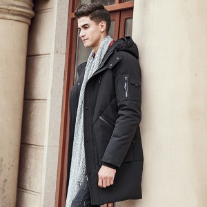 Thick winter down jacket men warm New Fashion brand clothing Top quality Long Male Pure White duck down coat