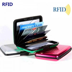 Thin Metal Card Protectors Aluminium Card Holders Anti Degaussing Wallet Case For Women Thumbnail