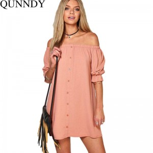Vestidos Autumn Women Dress For Summer Off Shoulder Sexy Loose Party Dress New Design Thumbnail
