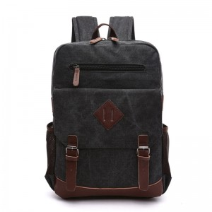 Vintage Multifunction Men Canvas Backpack Laptop Shoulder Bag Casual Travel Unisex Large Capacity Backpack