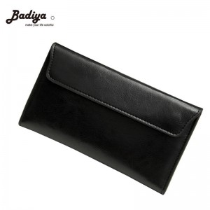 Vintage Women Leather Wallets Brief Long Clutch Korean Ladies Wallet Retro Purse For Women Thumbnail