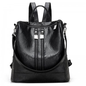 Vogue Star Alligator Backpacks High Quality Leather Bags For Ladies Student School Bags Female Shoulder Bags