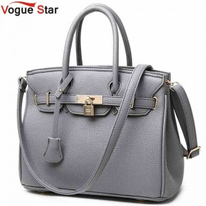 Vogue Star Luxury Lock Rivet Ladies Leather Tote Bags New Arrival Designer Handbags For Women Thumbnail