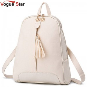 Vogue Star New Fashion Women Pu Leather Backpacks School Bags For College Girls School Bags Thumbnail