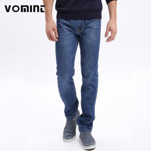 Vomint Men basic style casual Jeans Thin jean hot sale Original straight leg light blue color Men Class jeans Plus Size