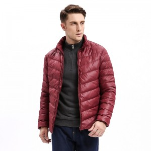 Vomint Winter New Mens Down Jacket Mid Weight Solid Color Slim Fit Warm Down Long Smart Casual Business Wear