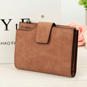 Wallets Letter Snap Fastener Zipper Short Clutch Vintage Matte Women Wallet Small Female Purse Short Purse