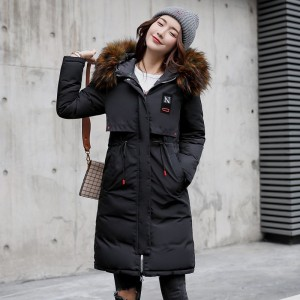 Warm Thick Winter Jacket Women Hooded Long Both Sides Wearable Street Wear Female Parka Parkas Coat Cotton Padded