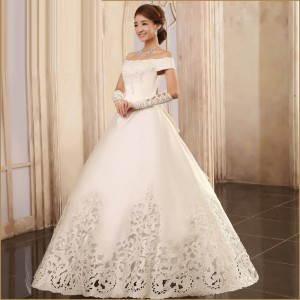 Wedding Dress High Quality Wedding Formal Bridal Dress Occasion Events Gown Princess Dress Fairy Dress Thumbnail