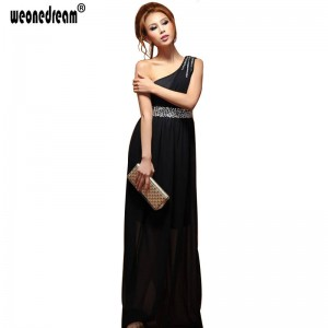 Weonedream Black Evening Dress Pregnant Women Sexy Long Formal Gown Prom Dress Single Shoulder Dress Women Thumbnail
